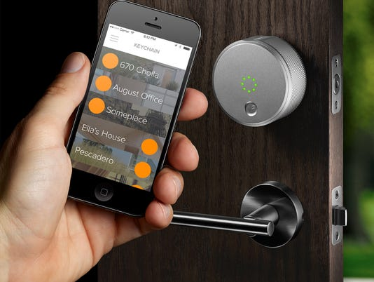 August lock lets you use the phone to unlock your door