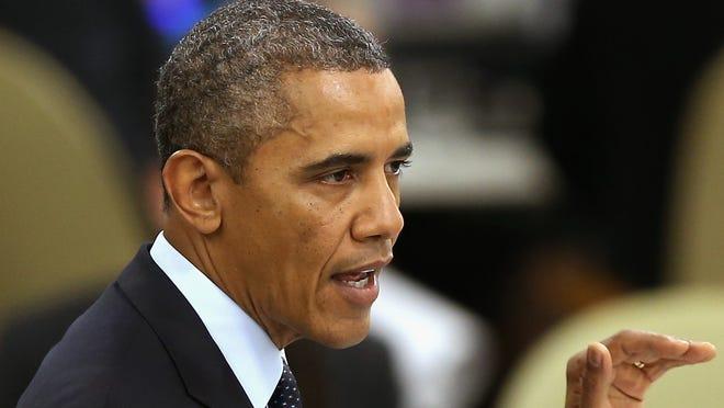 President Obama addresses the U.N. General Assembly in New York on Sept. 24, 2013.