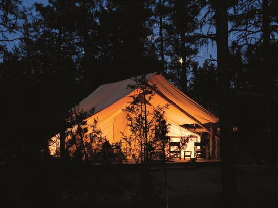The Resort at Paws Up offers luxury camping on the
