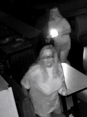 Church members used social media to circulate this surveillance shot of two women who allegedly vandalized St. Marks Church Sunday night.