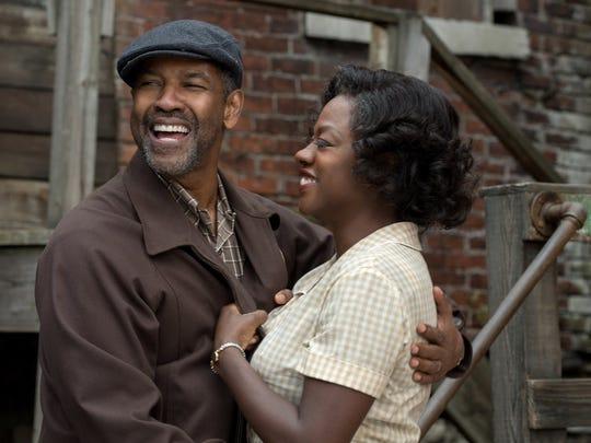 "Denzel Washington and Viola Davis in ""Fences."" The"