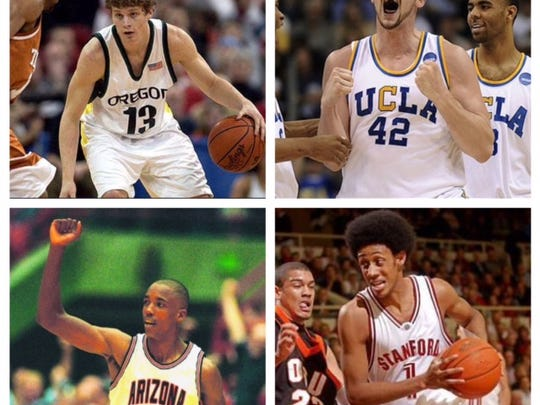 Oregon's Luke Ridnour, UCLA's Kevin Love, Arizona's