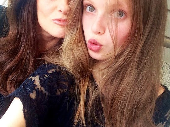 Candace Blanchard travels with daughter Avery, who signed with a major New York modeling agency.