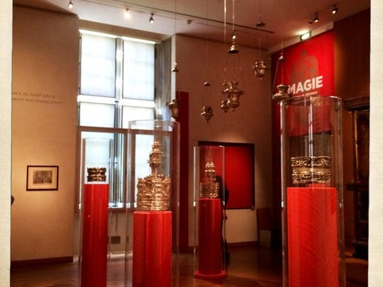 Museum of Art and History of Judaism is located in Le Marais district and it contains a great collection of Judaica art. This image shows silver objects from the Getto in Venice.