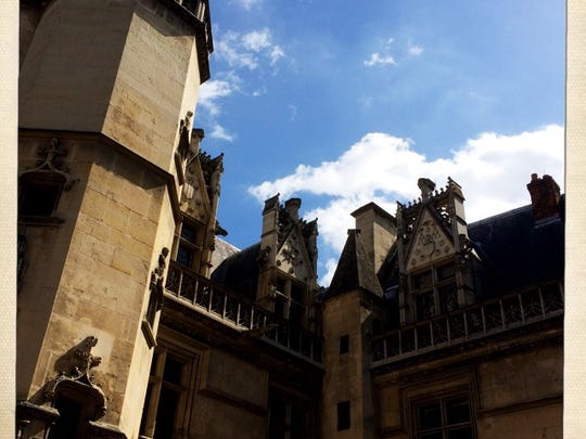 Paris is a city crowded with tourists, but some museums can be less visited. Such is the case of the Museum of Middle Ages, which is out of the way and lines are minimal. This image shows the outside of the museum.