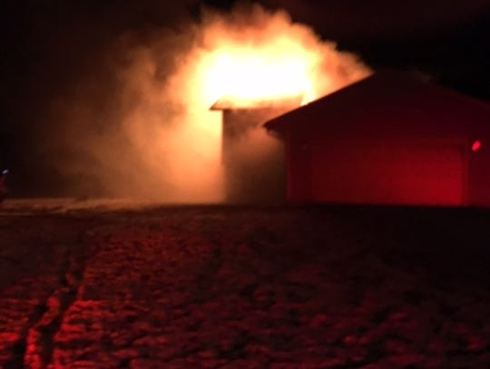 Firefighters responded to a house fire at 5:39 a.m.
