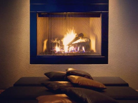 The Watermark has a fabulous fireplace.