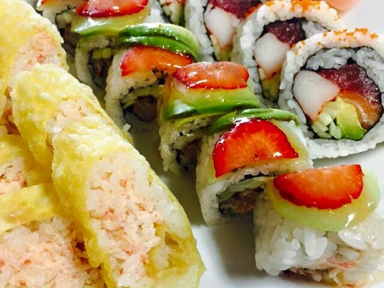 Tsunami is known for its creative sushi rolls.