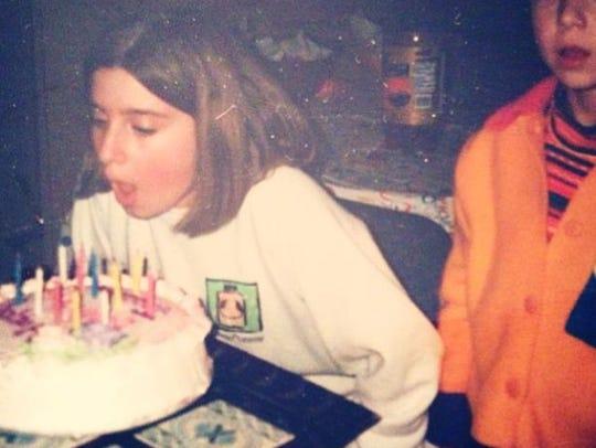 Jessica Cook celebrates a childhood birthday.