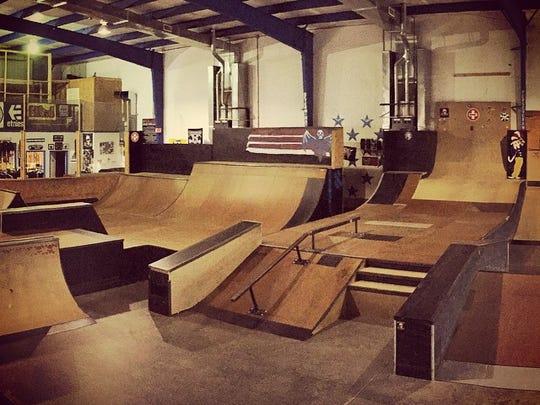 The park area of Killer Skate Park & Shop