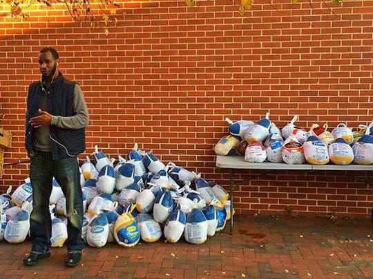 """LaDaye """"Cooley"""" Johnson has been organizing annual turkey drives - as well as community Easter egg hunts, book bag drives and holiday toy drives - since 2011."""