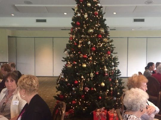 "The Christian Women's Connection of the Northern Palm Beaches held its ""December Luncheon,"" on Dec. 9 at Tequesta Country Club. Pictured is Tequesta Country Club's beautiful tree."