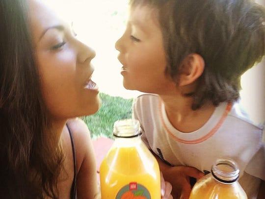 Tasha Maile and her son, Jisiah.