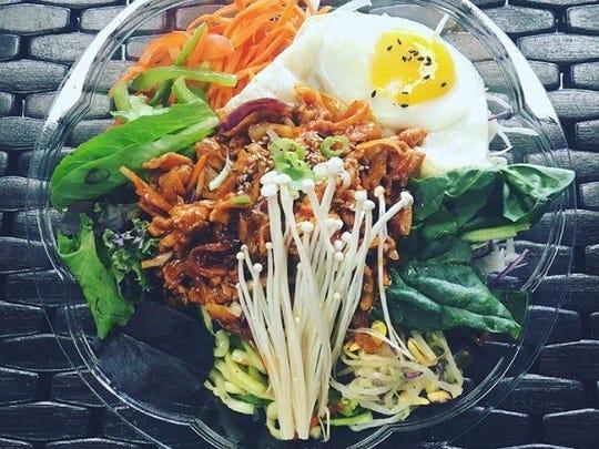 Bibimbap bowl from Kimchi Mama in Fair Lawn.