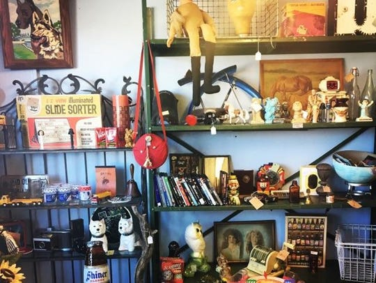 The owners of Dead People's Things fill the store with eclectic merchandise they pick up at estate sales, pull out of barns or snag anywhere else they can scavenge.