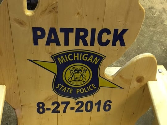 For one customer, Johnston made a pair of Michigan-back
