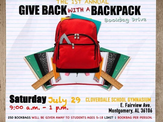 Give Back with a Backpack school supplies drive this