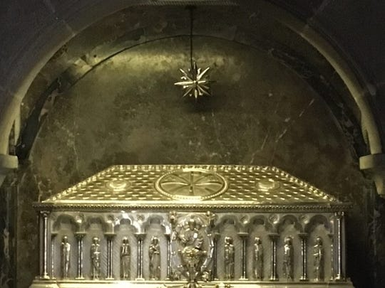 The reliquary containing the remains of Saint James.