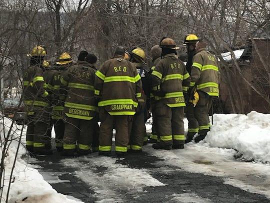 Binghamton fire crews battled a fire at 18 Thorp Street