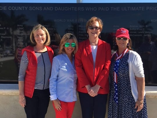 Linda Chastain, left, Andrea Pohl, Fort Pierce Mayor Linda Hudson, and Robyn Hutchinson.