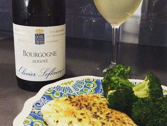 Fish, like this lemon herb halibut, pairs well with