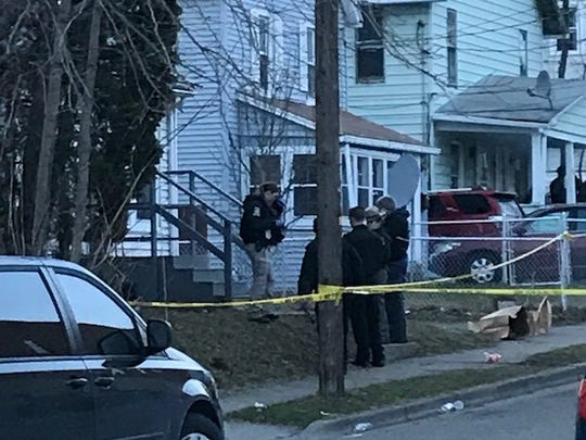 Police investigate after a shooting April 1 on Crocker