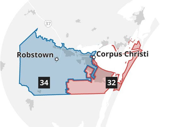 Nueces County state House districts