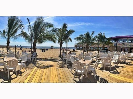 The outdoor deck of Martell's Tiki Bar in Point Pleasant