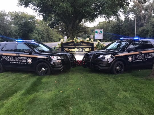Bloomfield Hills Public Safety Department police cars.