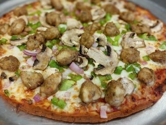 Cauliflower crust pizza from Zesty Zzeeks Pizza & Wings.