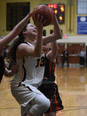 Colleen McQuillen (33) and Cresskill sit atop the North 1, Group 1 power points with a week to go before the state girls basketball tournament.