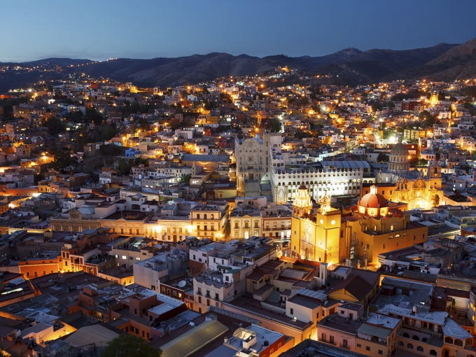 Guanajuato, a city in central Mexico, is nestled in a narrow valley and features a maze of winding streets.