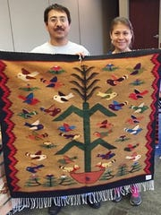 Zapotec weavers Alex and Socorro Martinez will meet