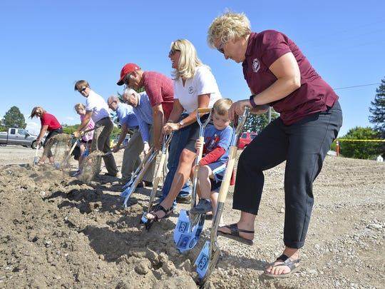 The Great Falls Public Schools ground breaking ceremony for the new elementary school, yet to be named, that will replace Roosevelt Elementary School. The new school will be built at 3117 5th Ave. N.