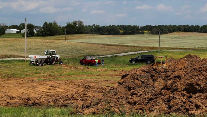 Floyd County Highway Department have used a plot of land in Harrison County to dispose of waste.