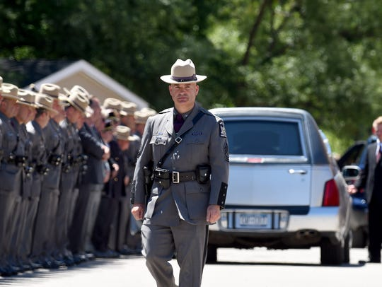 Funeral service for Trooper Nicholas F. Clark at the