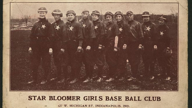 Star Bloomer Girls baseball club when they visited Indianapolis. circa 1905