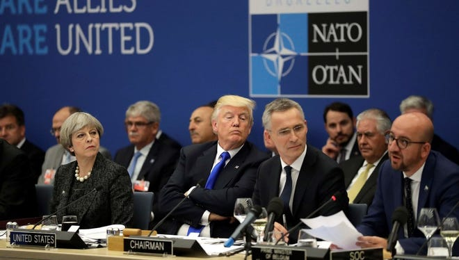 NATO summit in Brusssels on May 25, 2017