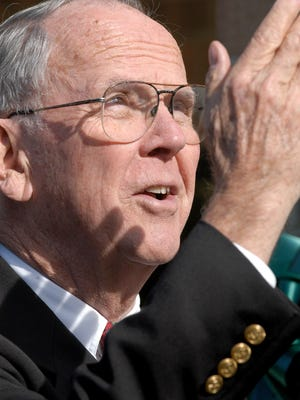 Former U.S. Rep. Cass Ballenger in 2003. Ballenger died Wednesday.