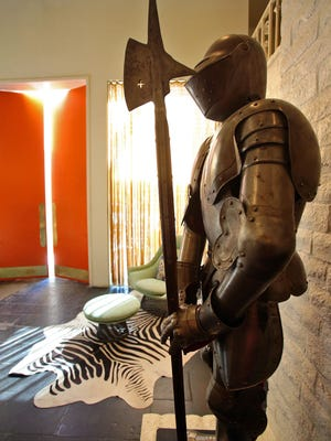 Don't let the knight standing guard at the front entrance to the Parker Palm Springs scare you off.