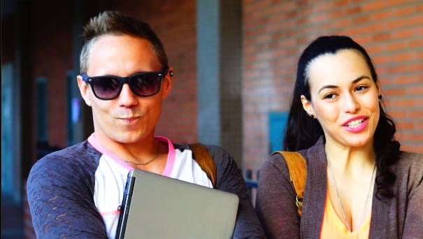 """Ryan Zamo (left) and Zasha Shary in a scene from the new Amazon series """"Back Stabber."""""""