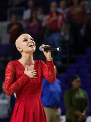 Danielle Dease's stirring performance of the national anthem Tuesday was among the highlights from the opening of Florida SouthWestern State College's new arena in south Fort Myers.