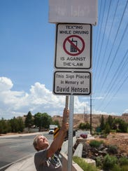 Leslee Henson reveals a new sign warning against distracted