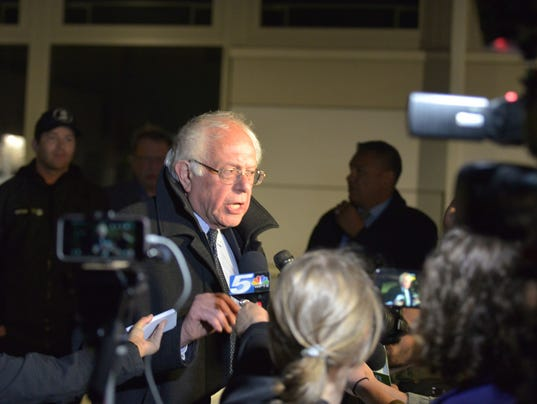 April 19, 2016, Bernie Sanders BTV