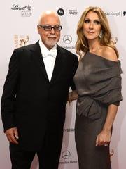 Singer Celine Dion and her husband René Angélil, whose