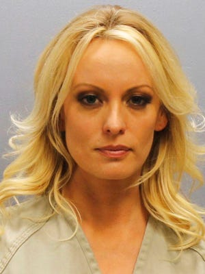 This photo provided by the Franklin County Sheriff's Office on Thursday, July 12, 2018, shows porn actress Stormy Daniels.