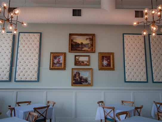 The dining room at Magnolia Wine Kitchen was still