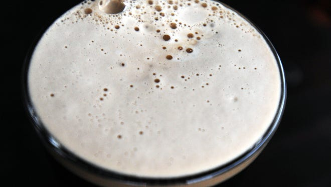 The rich and creamy head of an Oyster Stout.