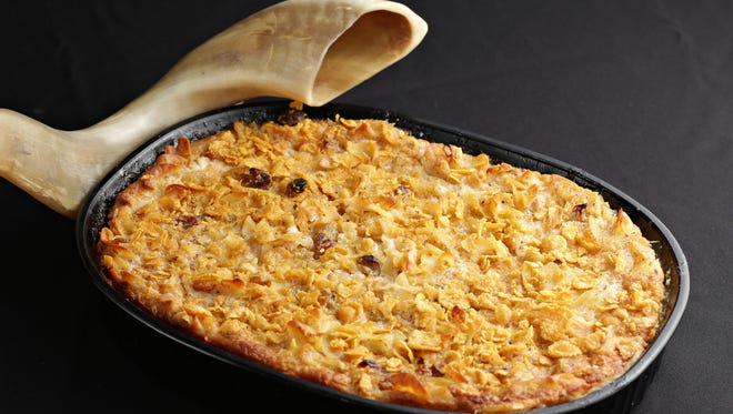 Suzanne Fuchs' apple kugel, a traditional dish made for Rosh Hashanah, as seen in Phoenix, on Sept. 4, 2014.