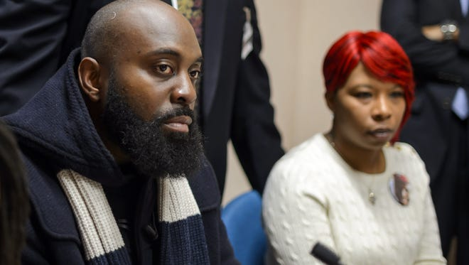 Michael Brown Sr. and Lesley McSpadden, parents of Michael Brown Jr., on Nov. 12, 2014.
